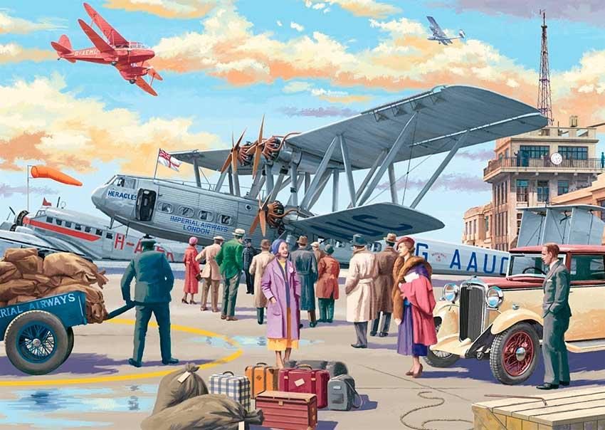Puzzle Falcon Aeropuerto Croydon de 500 Piezas