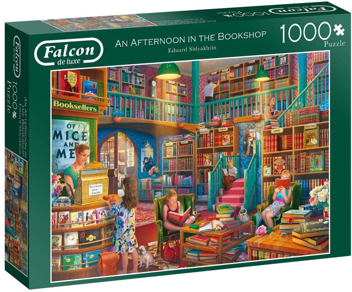 Puzzle Falcon Atardecer en la Librería de 1000 Piezas