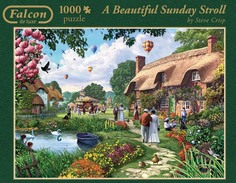 Puzzle Falcon Bonita Tarde de Domingo de 1000 Piezas