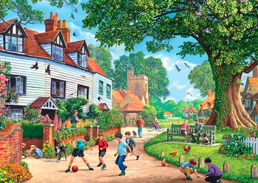 Puzzle Falcon Brenchley Village de 1000 Piezas