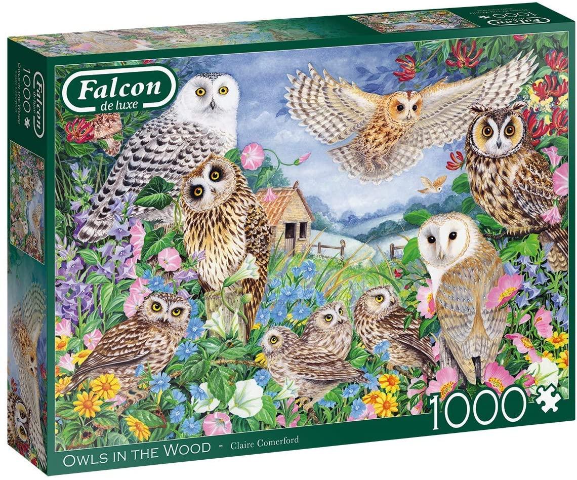Puzzle Falcon Buhos en el Bosque de 1000 Piezas