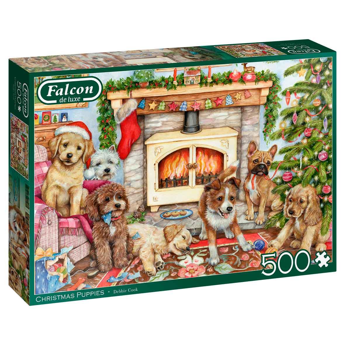 Puzzle Falcon Cachorros de Navidad de 500 Piezas