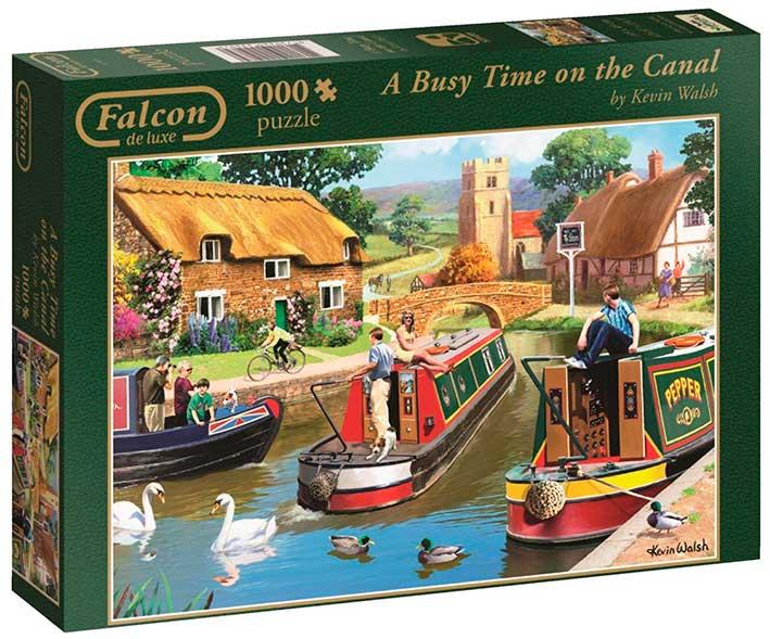 Puzzle Falcon Canal Concurrido de 1000 Piezas