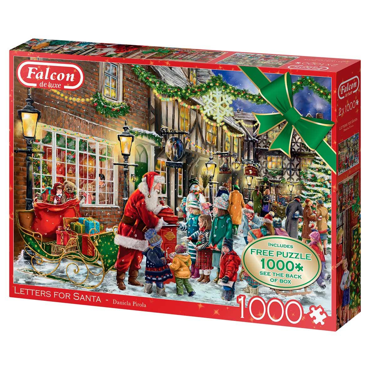 Puzzle Falcon Cartas para Papá Noel de 2 x 1000 Piezas