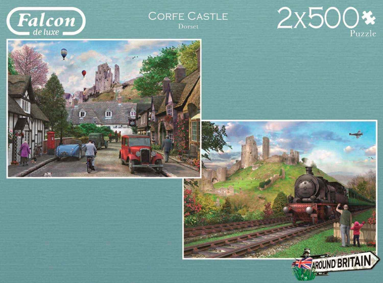 Puzzle Falcon Castillo Corfe de 2 x 500 Piezas