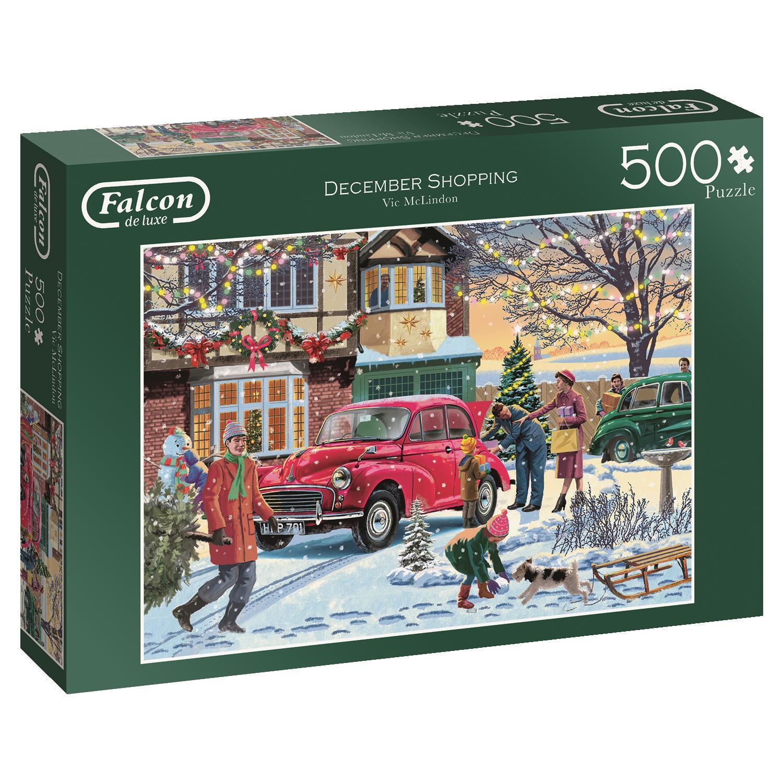 Puzzle Falcon Compras de diciembre de 500 Piezas