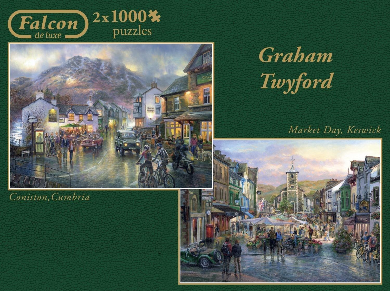 Puzzle Falcon Coniston and Market Day 2 x 1000 Piezas