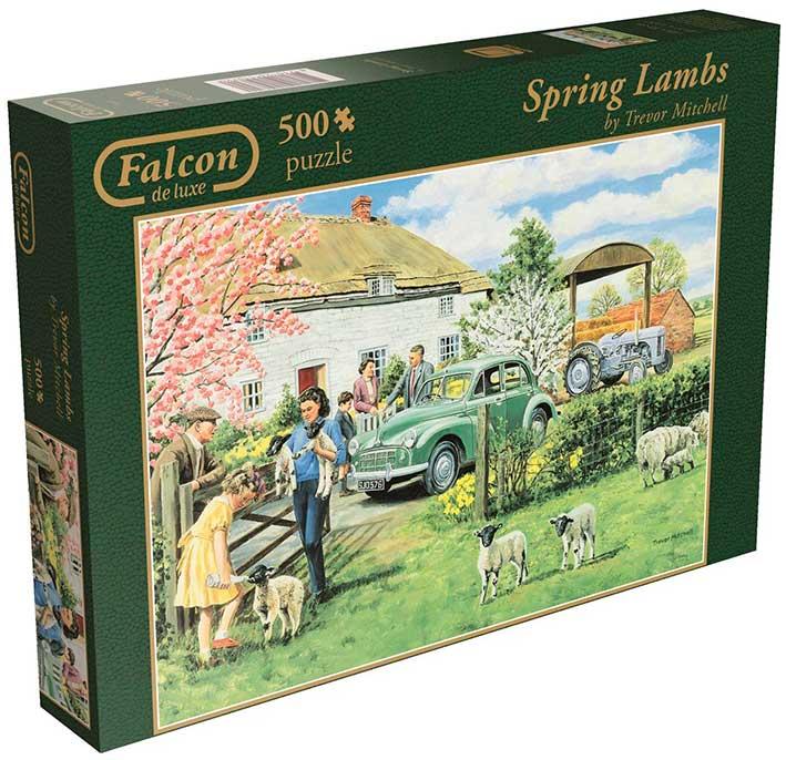 Puzzle Falcon Criando Corderos en Primavera de 500 Piezas