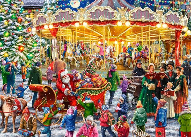 Puzzle Falcon El Carrusel de Navidad de 2 x 1000 Piezas