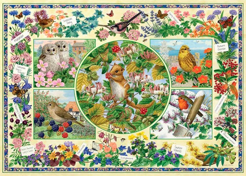 Puzzles Falcon El Jardín de Campo de 1000 Piezas