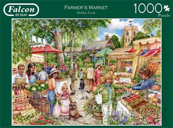 Puzzle Falcon El Mercado de la Granja de 1000 Piezas