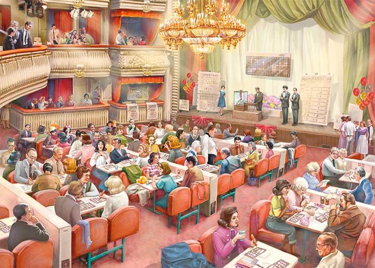 Puzzle Falcon El Salón de Bingo de 1000 Piezas