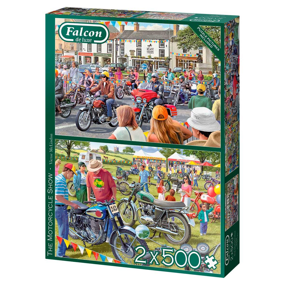 Puzzle Falcon El Show de las Motocicletas de 2 x 500 Pzs