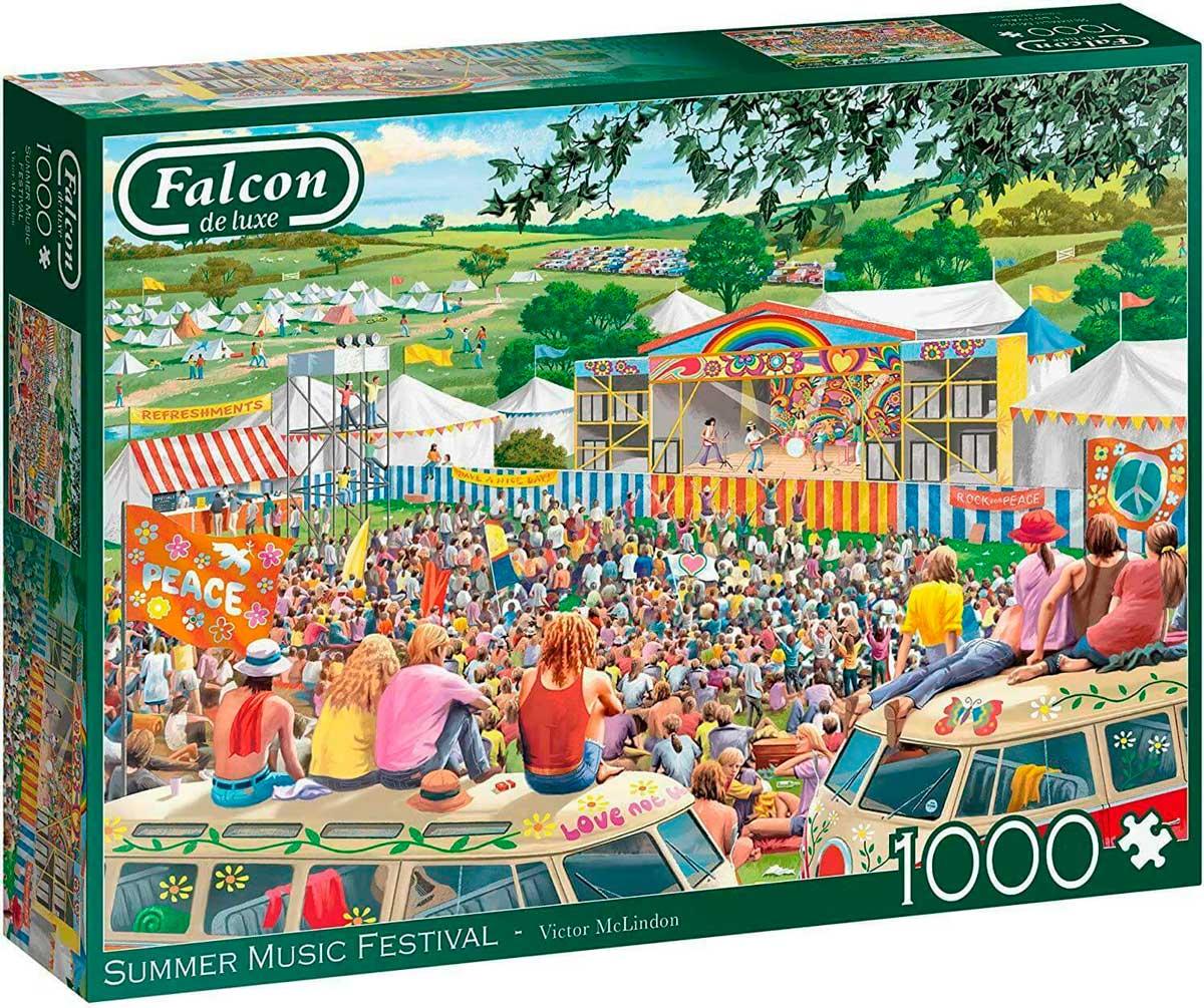 Puzzle Falcon Festival Musical de Verano de 1000 Piezas