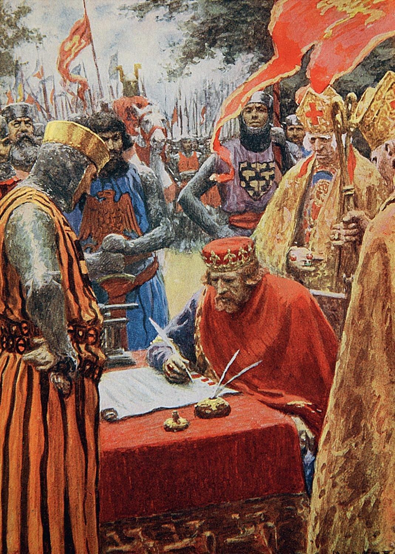 Puzzle Falcon Firma de la Carta Magna de 1000 Piezas