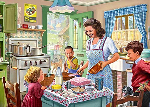 Puzzle Falcon Haciendo Pasteles con Mama de 1000 Piezas
