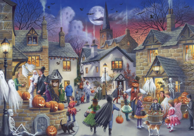 Puzzle Falcon Halloween de 1000 Piezas
