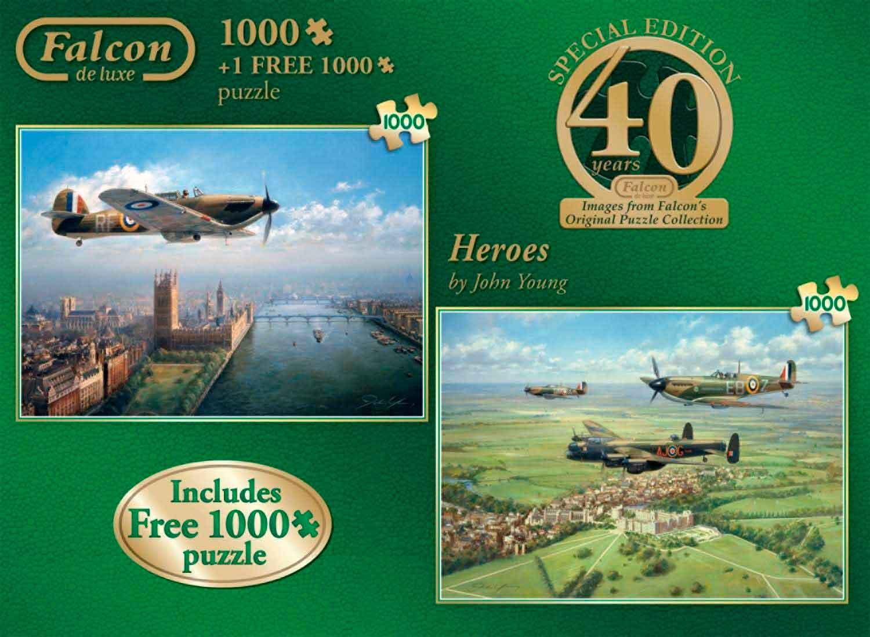 Puzzle Falcon Heroes 2 x 1000 Piezas