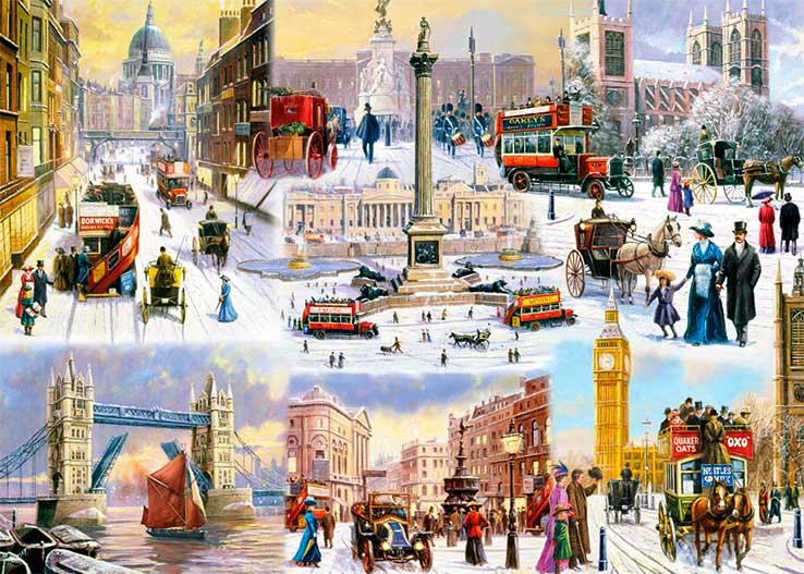 Puzzle Falcon Invierno en Londres de 1000 Piezas