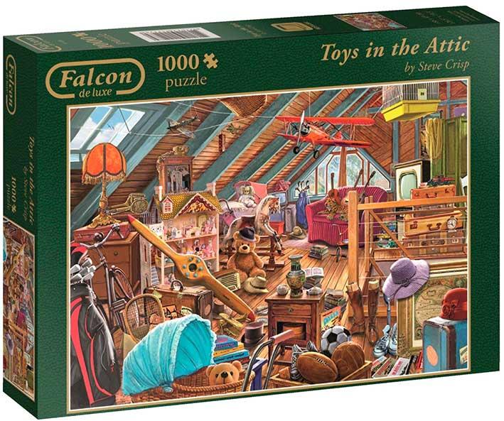Puzzle Falcon Juguetes en el Ático de 1000 Piezas