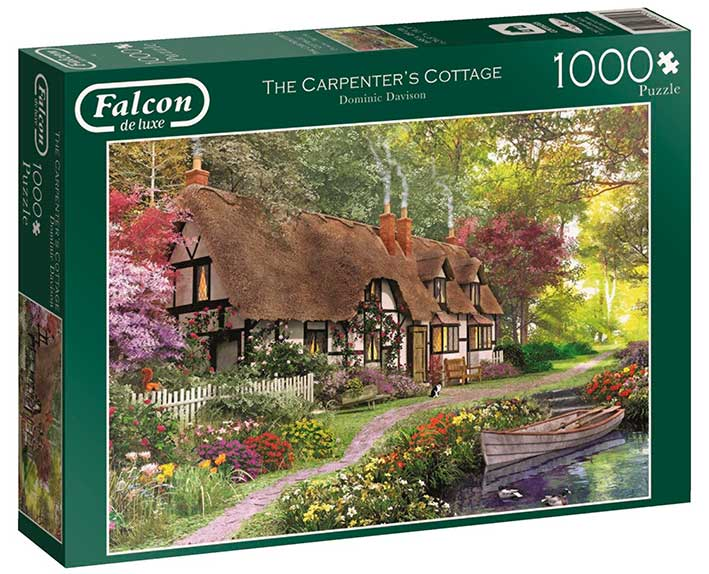 Puzzle Falcon La Cabaña de Carpintería de 1000 Piezas