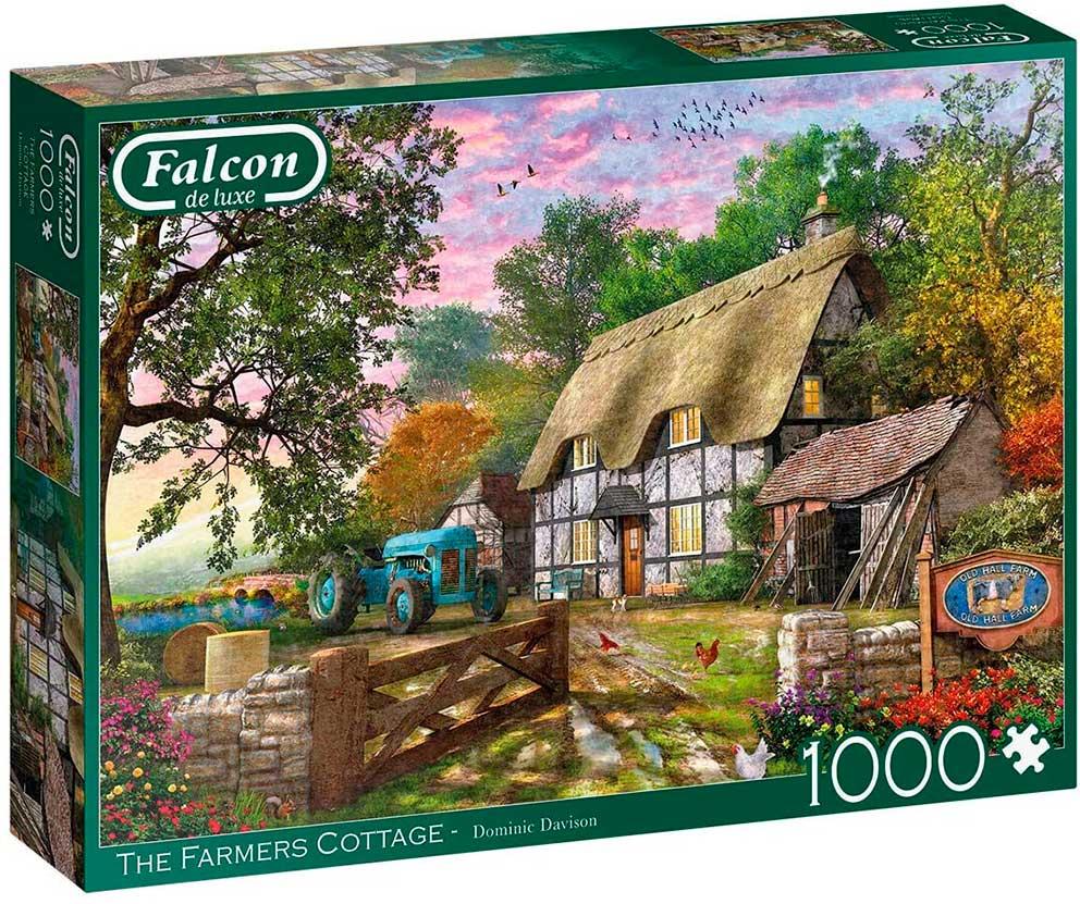 Puzzle Falcon La Cabaña de los Granjeros de 1000 Piezas