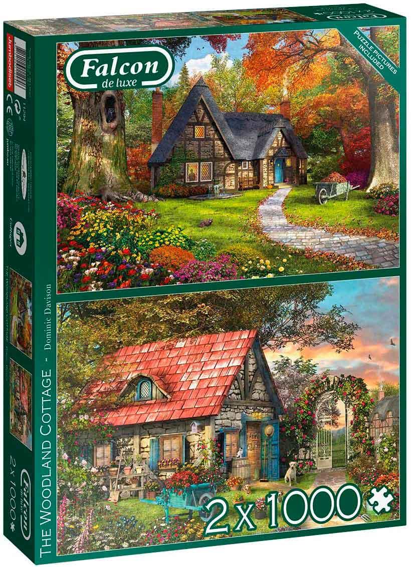 Puzzle Falcon La Cabaña del Bosque 2 x 1000 Piezas