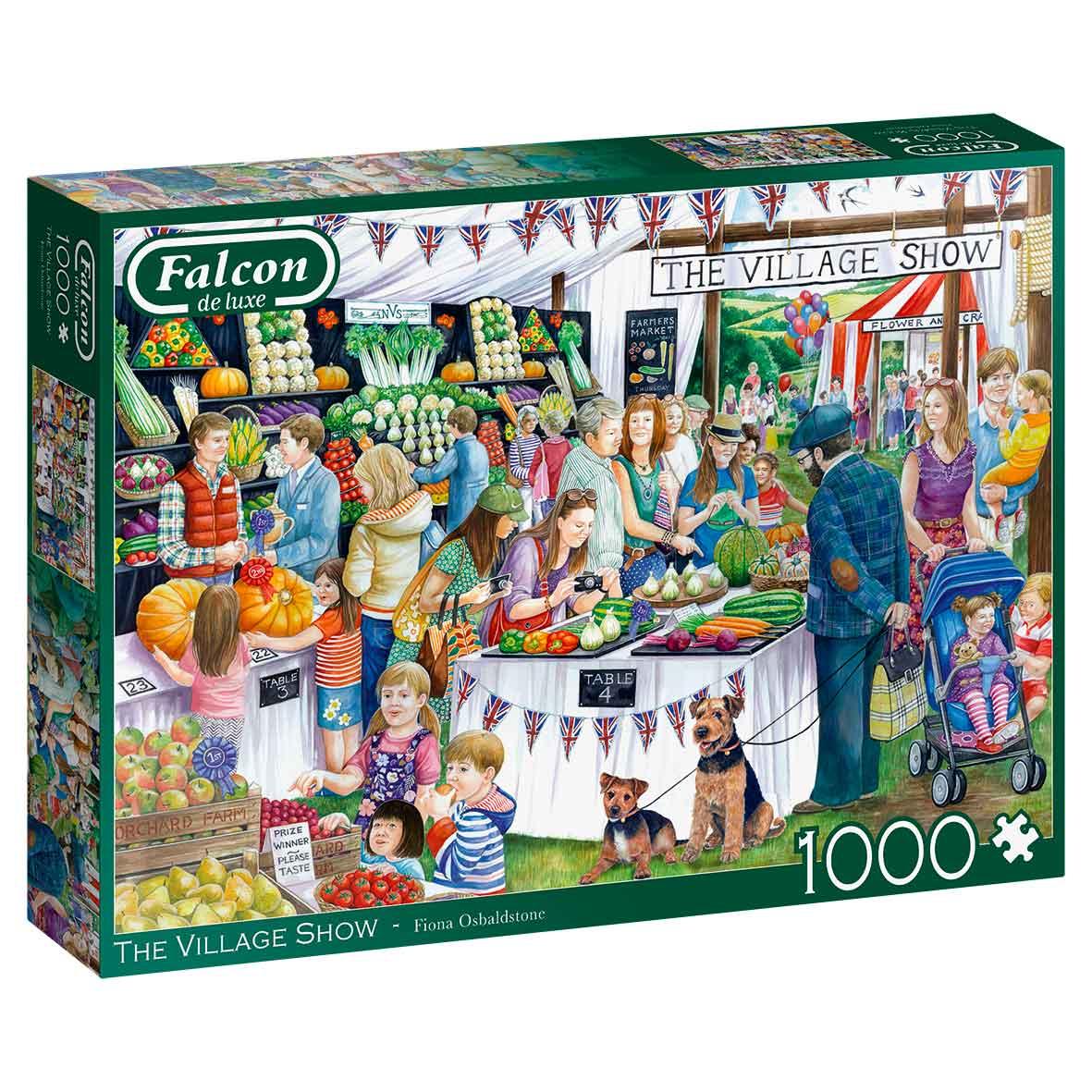 Puzzle Falcon La Feria de Muestras del Pueblo de 1000 Piezas