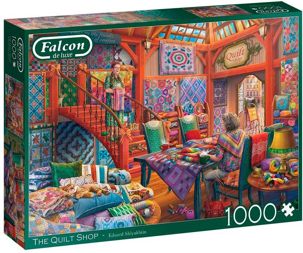 Puzzle Falcon La Tienda de Colchas de 1000 Piezas