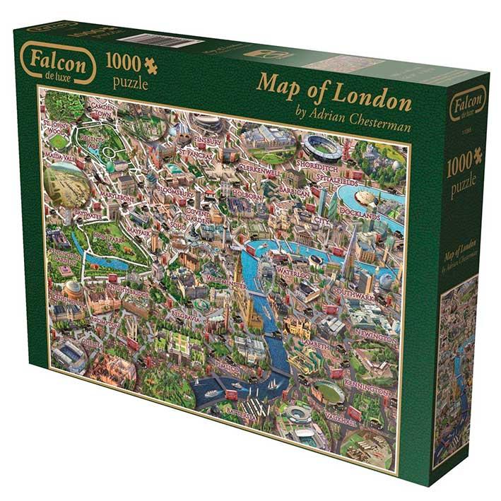Puzzle Falcon Mapa de Londres de 1000 Piezas