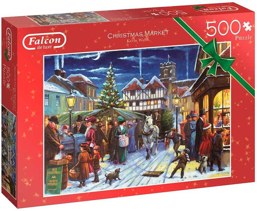 Puzzle Falcon Mercado de Navidad de 500 Piezas