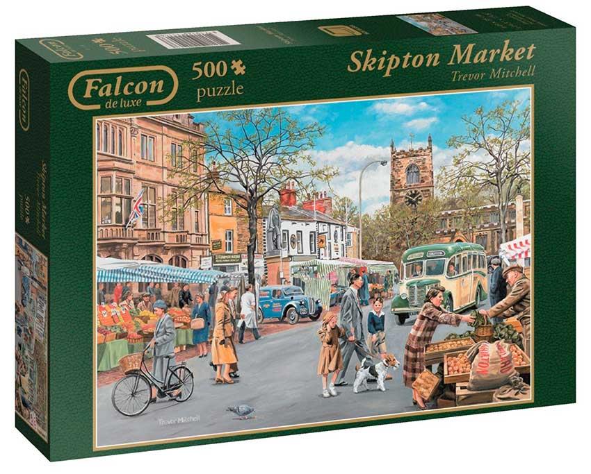 Puzzle Falcon Mercado de Skipton de 500 Piezas