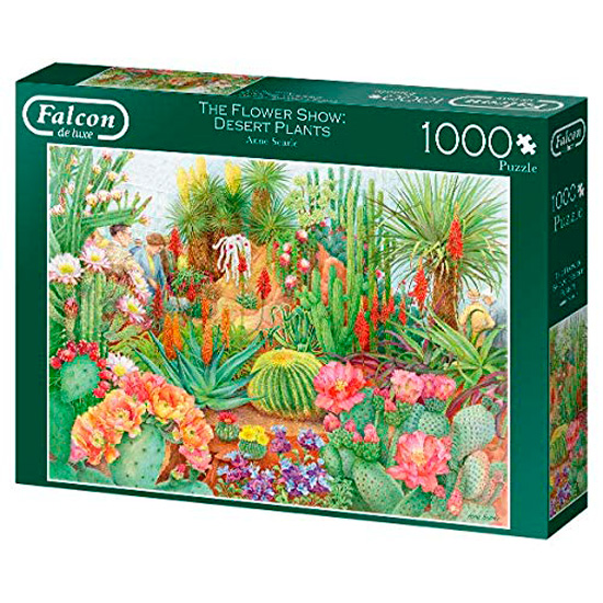 Puzzle Falcon Muestra de Flores: Cactus del Desierto de 1000 Pzs