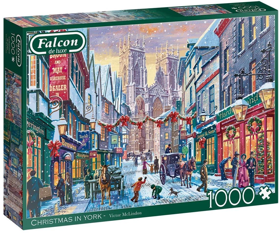 Puzzle Falcon Navidad en Nueva York de 1000 Piezas
