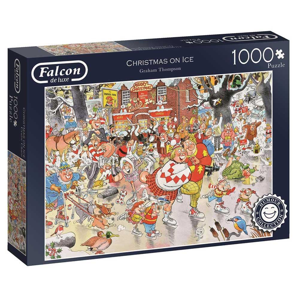 Puzzle Falcon Navidades Sobre el Hielo de 1000 Piezas