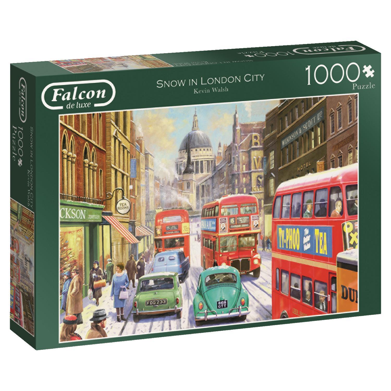 Puzzle Falcon Nieve en Londres de 1000 Piezas