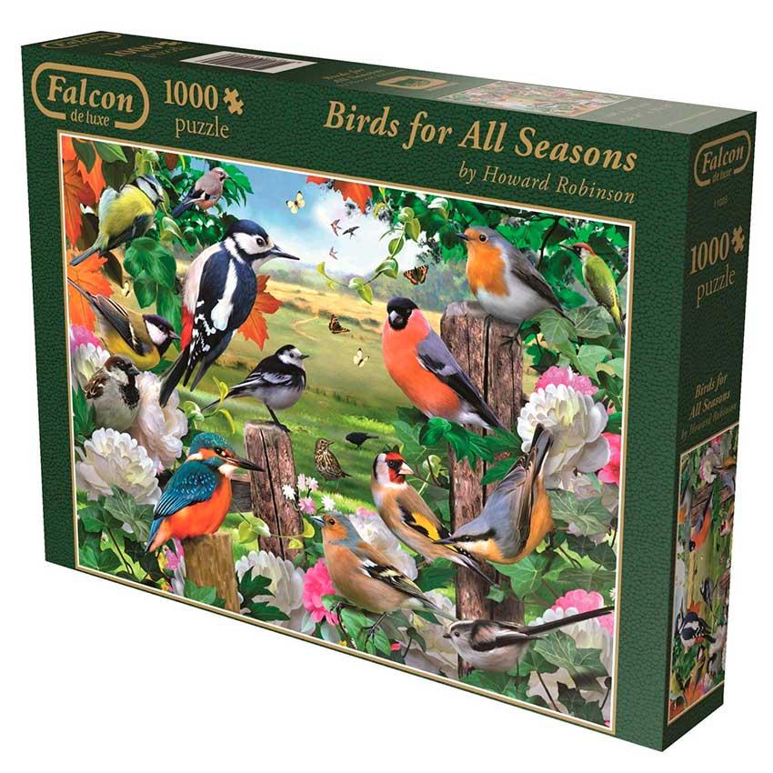 Puzzle Falcon Pajaros de Todas las Estaciones de 1000 Piezas