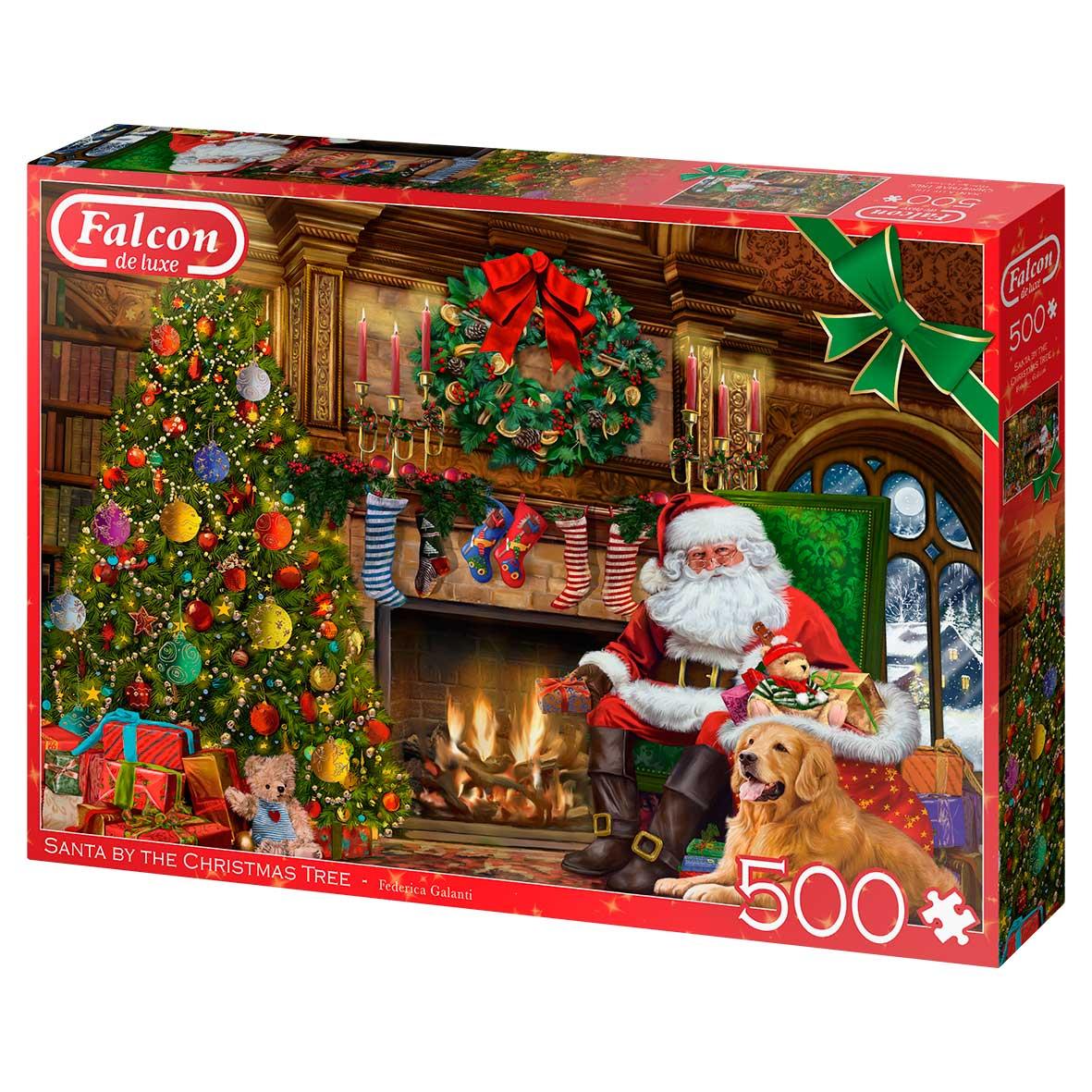 Puzzle Falcon Papá Noel Junto a la Chimenea de 500 Piezas