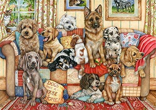 Puzzle Falcon Perros en el Sofá de 1000 Piezas