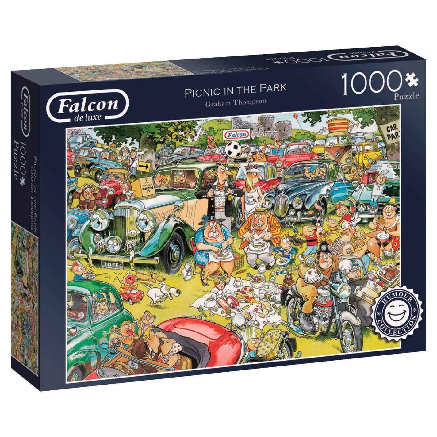 Puzzle Falcon Picnic en el Parque de 1000 Piezas