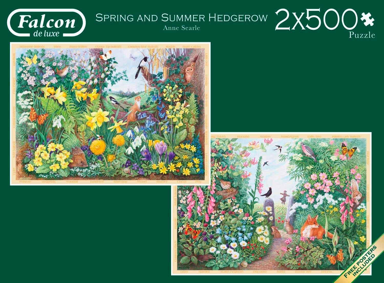 Puzzle Falcon Primavera y Verano de 2 x 500 Piezas
