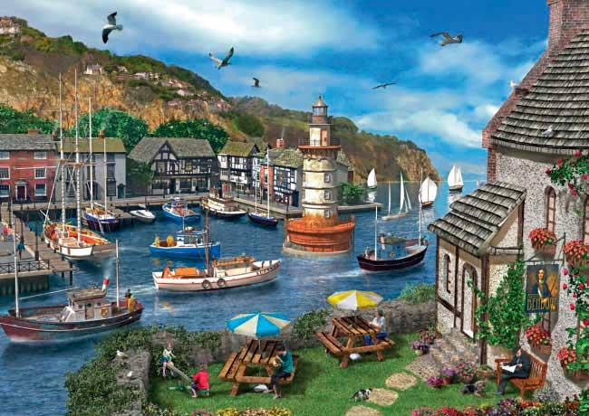 Puzzle Falcon Puerto de Verano de 1000 Piezas