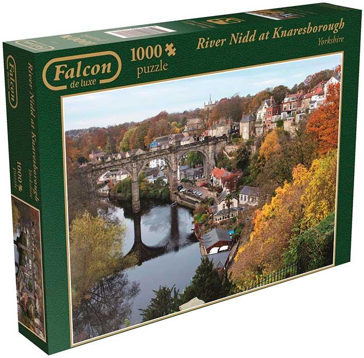 Puzzle Falcon Río de Knaresborough de 1000 Piezas