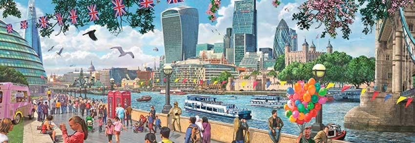 Puzzle Falcon Río Támesis, Londres 1000 Piezas