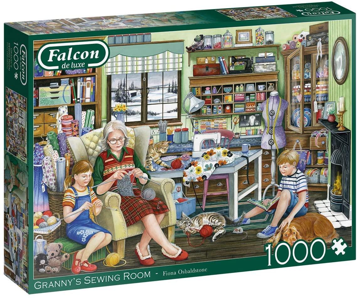 Puzzle Falcon Sala de Costura de la Abuela de 1000 Piezas