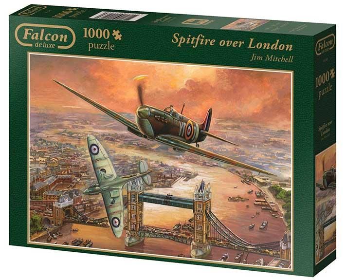 Puzzle Falcon Spitfire sobre Londres de 1000 Piezas