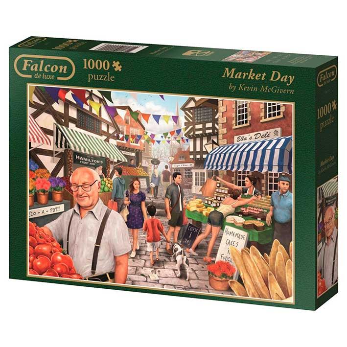 Puzzle Falcon Un Día en el Mercado de 1000 Piezas