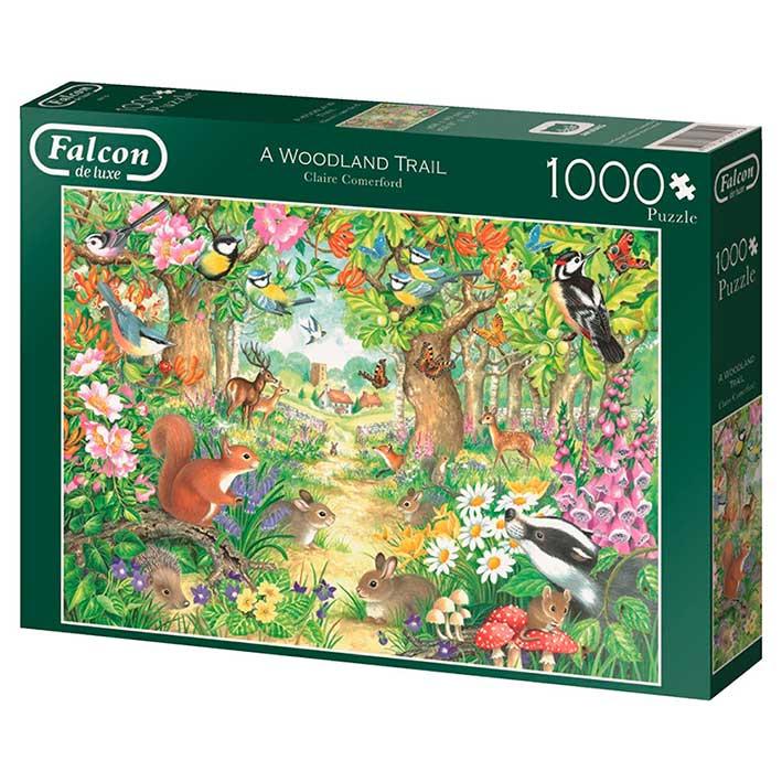 Puzzle Falcon Un Sendero Forestal de 1000 Piezas