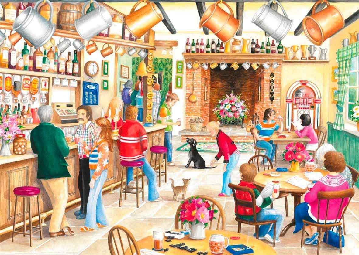 Puzzle Falcon Una Tarde de Verano en el Pub de 2 x 500 Pzs