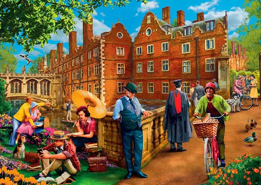 Puzzles Falcon Una Tarde en Cambridge de 1000 Piezas